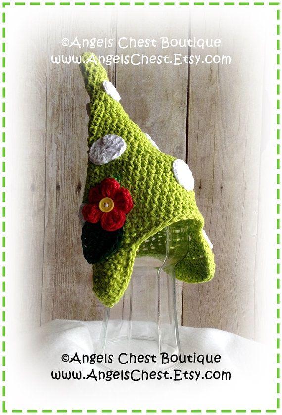 Crochet GARDEN GNOME Hat PDF Pattern Sizes Newborn to Adult Boutique ...