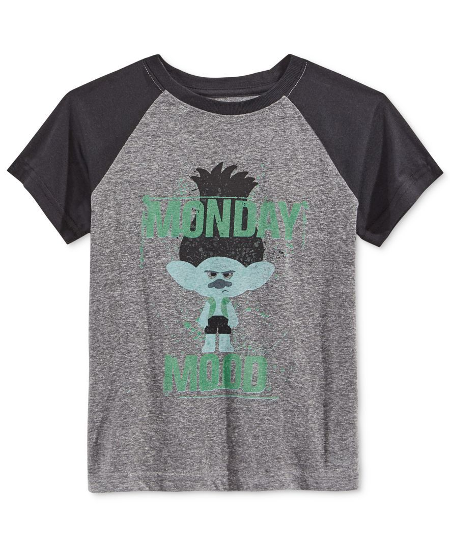 258cbf92 Make Mondays a little cuter with this fun graphic-print Branch T-shirt from  DreamWorks Trolls. | Cotton/polyester | Machine washable | Imported | Crew  neck ...