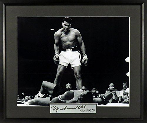 "Muhammad Ali ""First Round, First Minute"" B&W 16x20 Photograph (SGA Signature Series) Framed"
