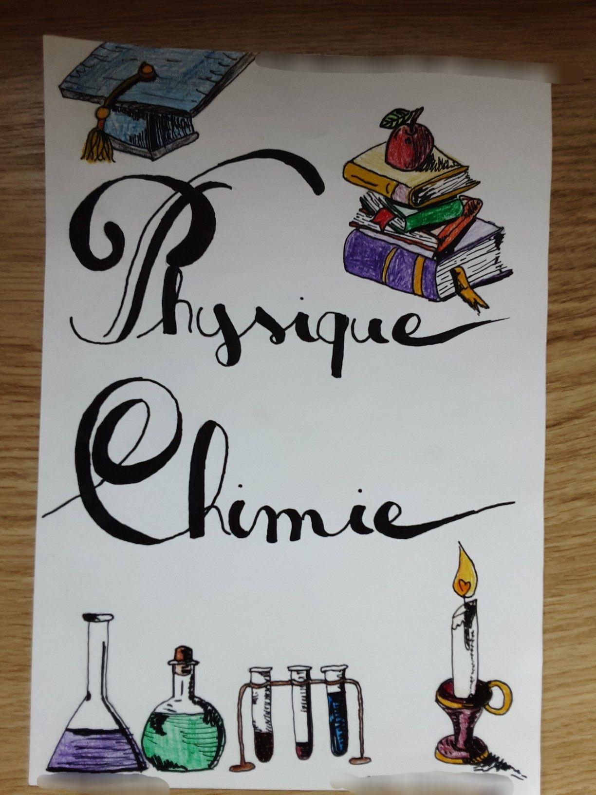 Page de garde ~ Physique Chimie   Physique chimie, Page de garde ...