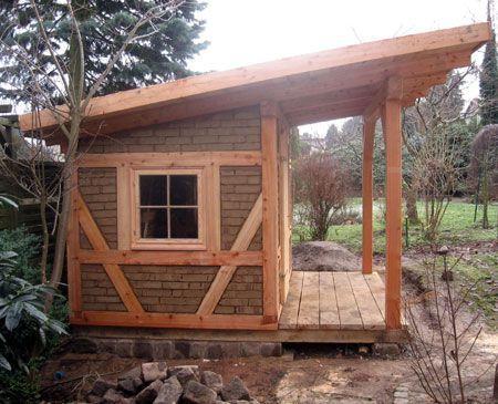 Gartenhaus Fachwerk unverputzt Gartenhaus, Gartenhaus bauen