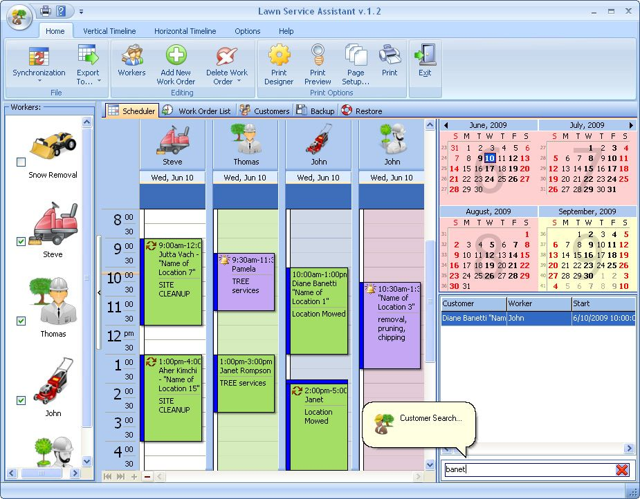 Professional lawn care business software now you can keep for Lawn maintenance schedule