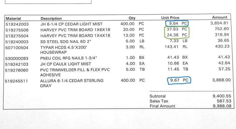 Hardie Plank Siding Material Prices Hardie Siding Siding Prices Siding Estimate
