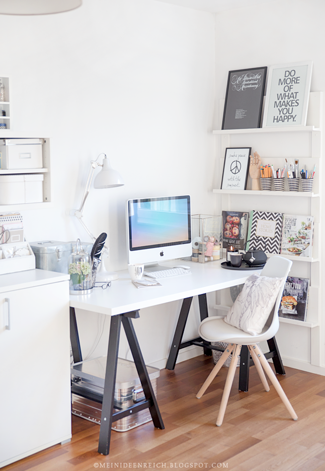 Attractive Simple, Gorgeous, Light Filled Home Office Idea.