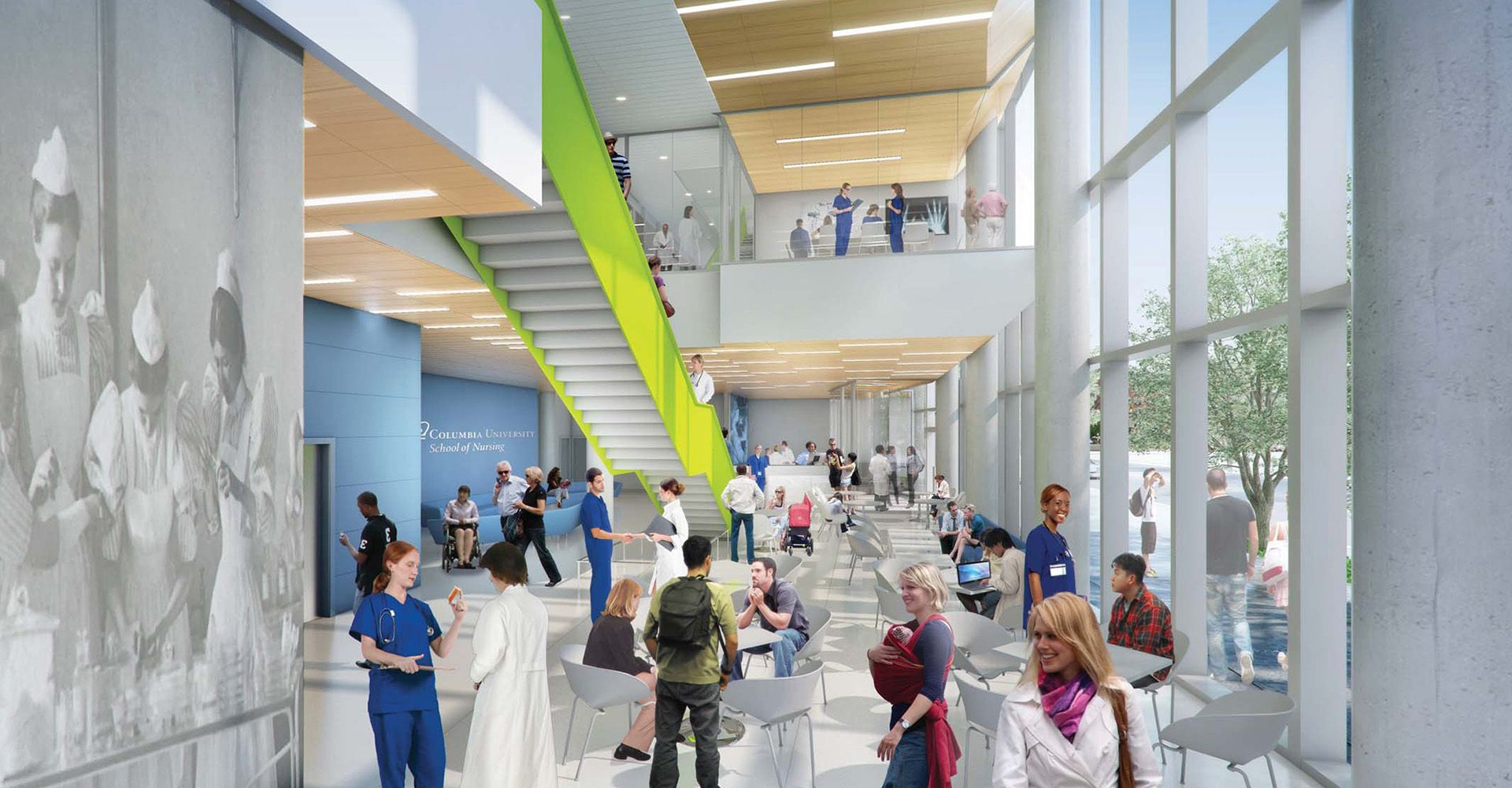 Co Fxfowle Won An Invited Competition For Columbia University Medical Center To Design A New 7 Story Faci Columbia University Medical University Nursing School