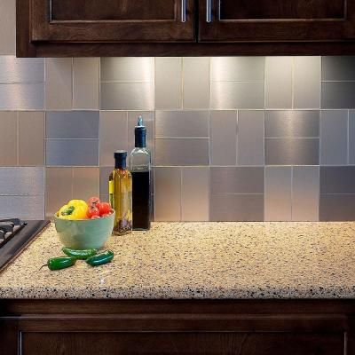 Decorative Tiles For Backsplash Aspect Short Grain 3 Inx 6 Inmetal Decorative Tile Backsplash