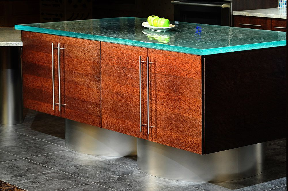 Mullet Cabinet - European Kitchen with glass and stainless steel