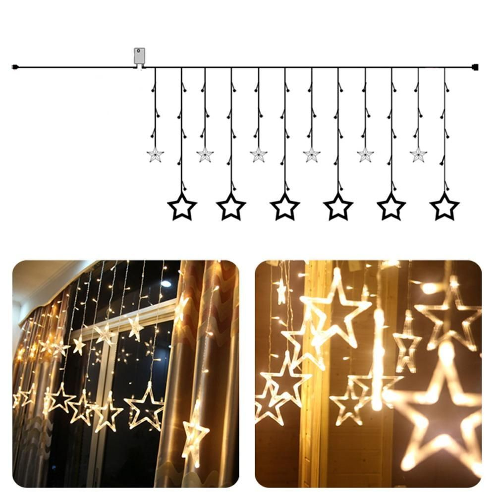 2M 138 LED star string Fairy Lights for wedding decorations Home ...
