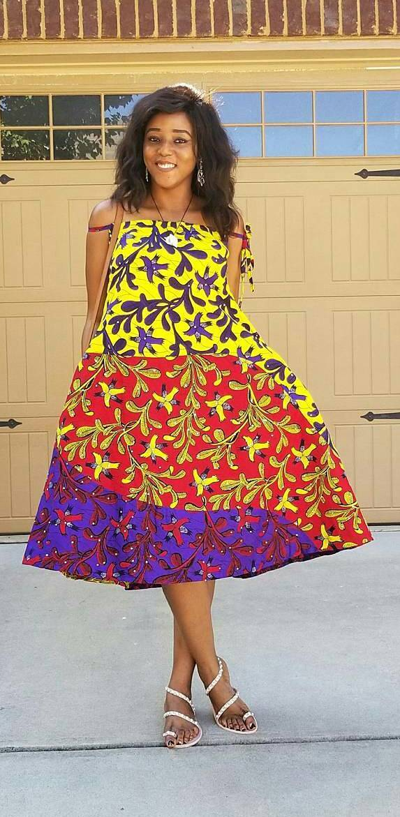 Colorful Ankara Dress Style African Fashion Ankara Kitenge African Women Dresses African