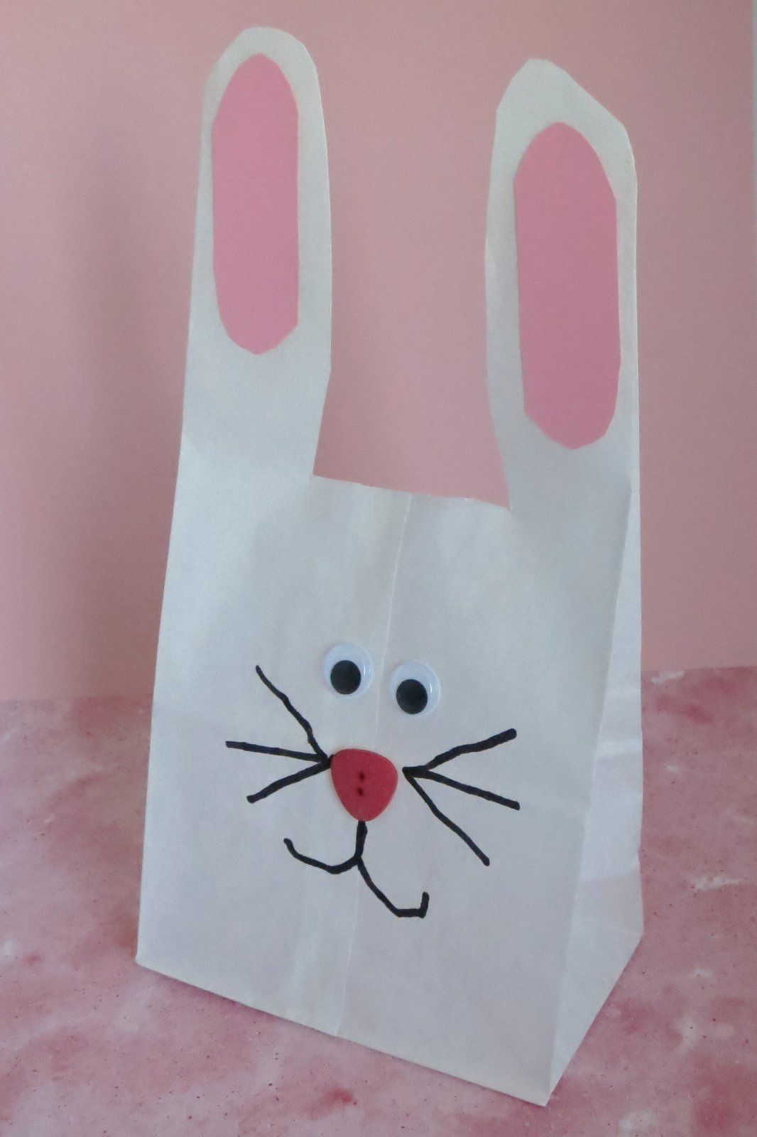 Turn A Paper Sack Into A Bunny