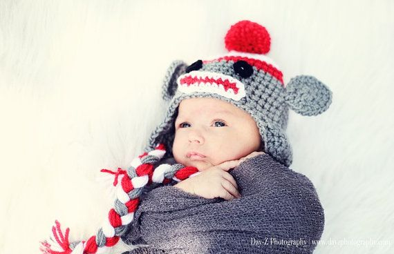 Pdf Sock Monkey Hat Crochet Pattern By Chellysshoppe On Etsy 500