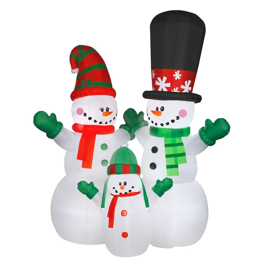 Christmas Purchase National Tree Company 144-in Inflatable Snowman