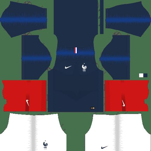buy online 4862d 4b27a FIFA World Cup 2018 Dream League Soccer Kits France | League ...