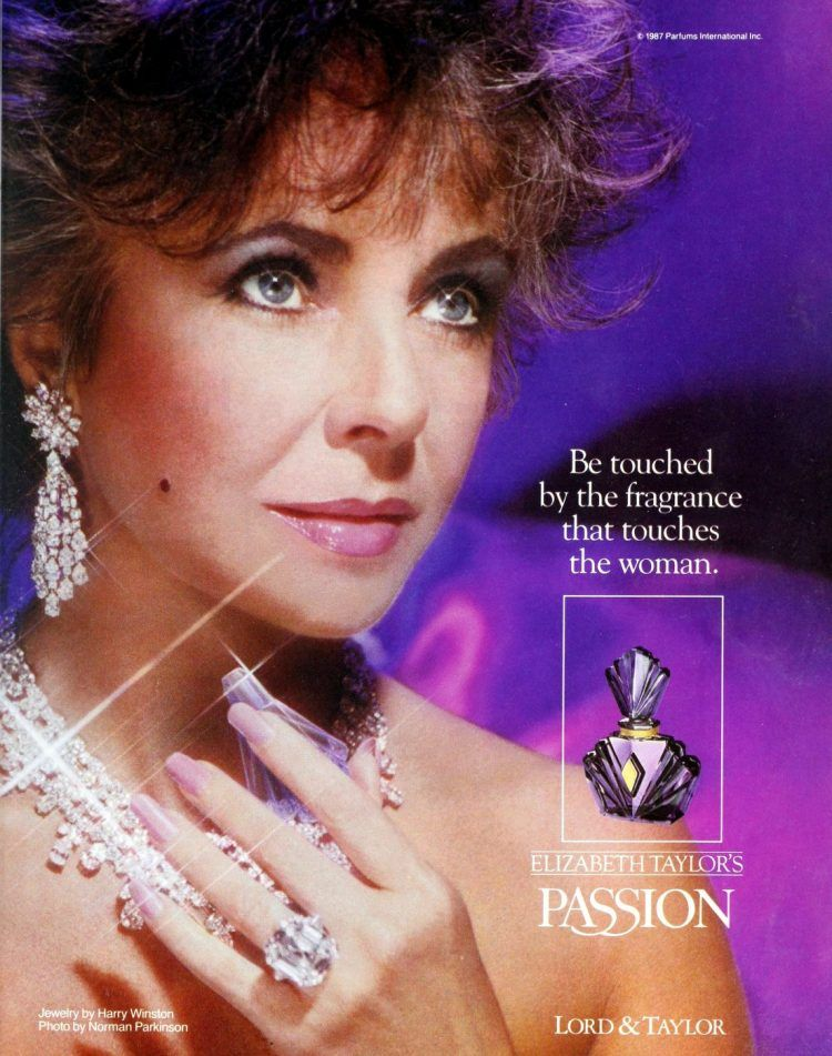 45 Most Popular Vintage Perfumes From The 80s At Click Americana Perfume Vintageperfume Vin In 2020 Elizabeth Taylor Perfume Elizabeth Taylor Jewelry Perfume Ad