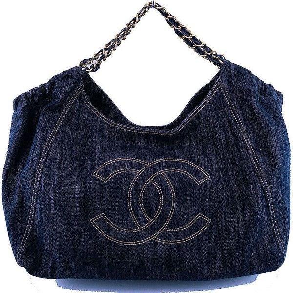 944870b2051056 Pre-Owned Chanel Dark Blue Denim XL Giant Coco Cabas Tote Bag ($1,999)