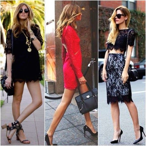 How To Street Style: LACE DRESS