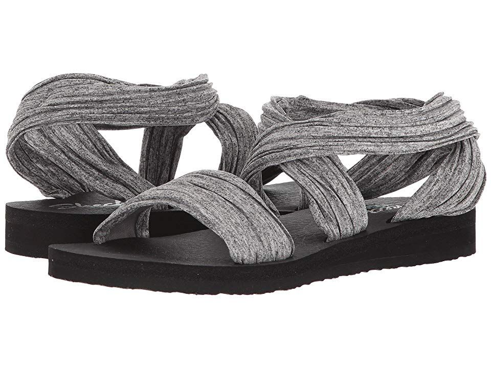 485127024fda SKECHERS Meditation - Still Sky (Gray) Women s Shoes. Unique texture and  design is a crossover success in the SKECHERS Cali Meditation - Still Sky  sandal!