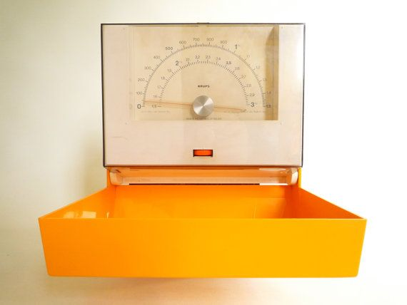 Retro Kitchen Scale Krups Bright Vintage Scales Wall By Crolandco