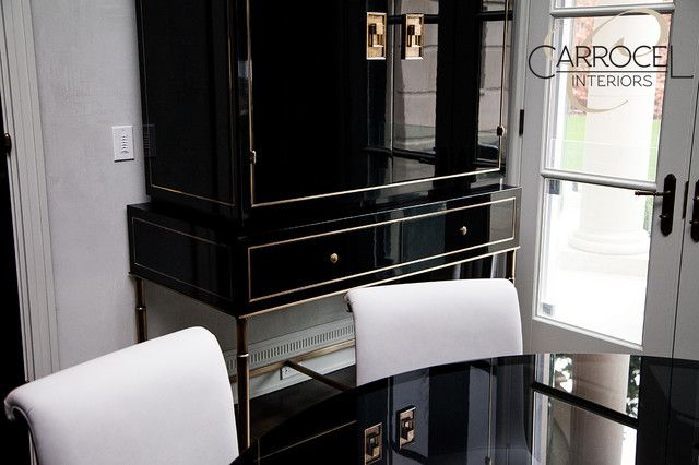 Black Lacquer Kitchen Cabinets