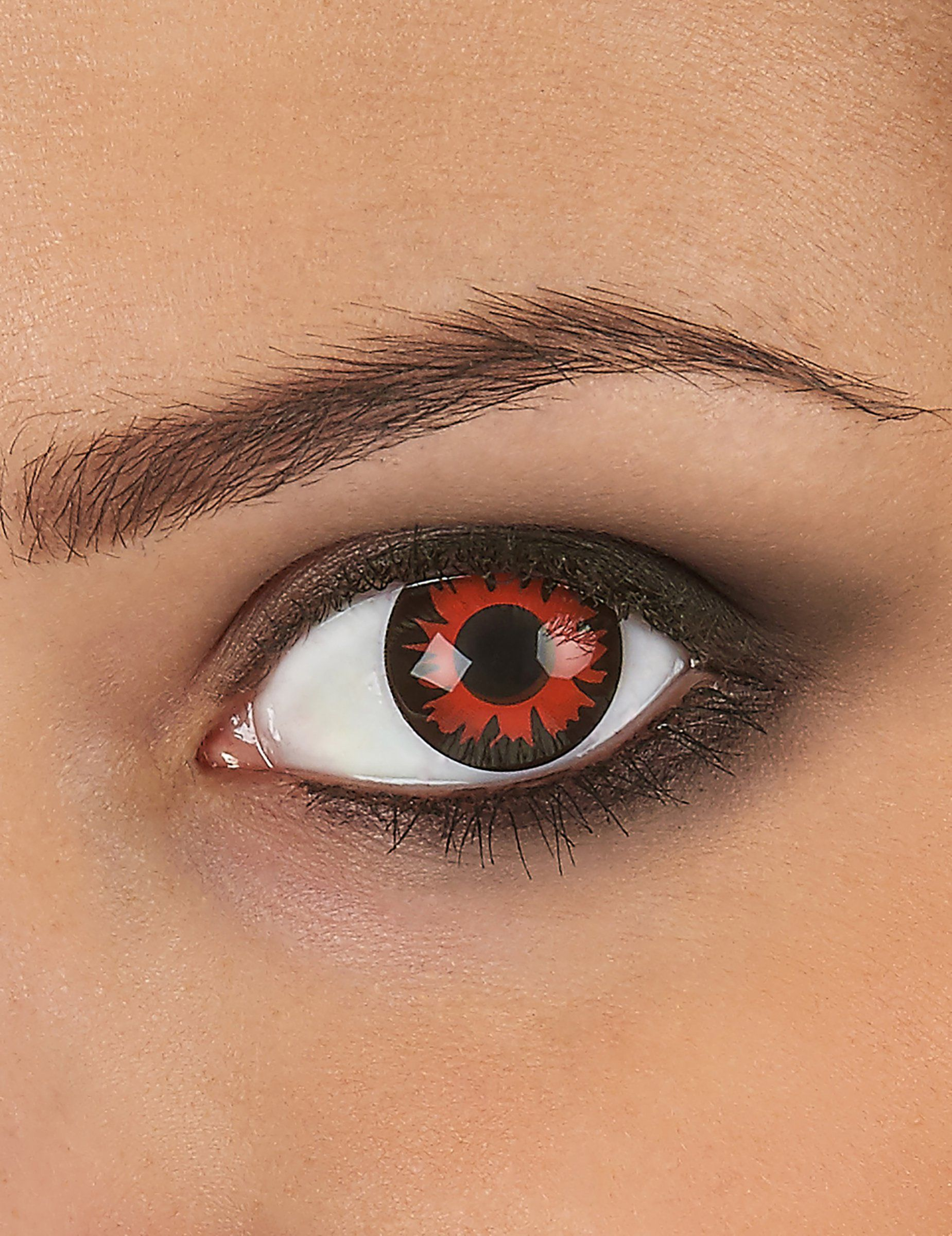 aceb086ded Lentes de contacto de fantasía de color rojo y negro especiales para  Halloween y Carnaval
