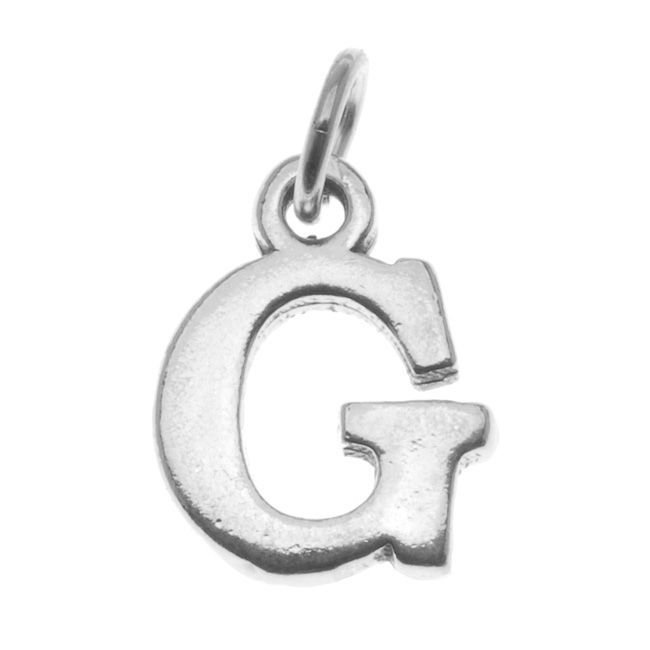 Sterling Alphabet Charm Initial Letter 'G' 16mm Piece