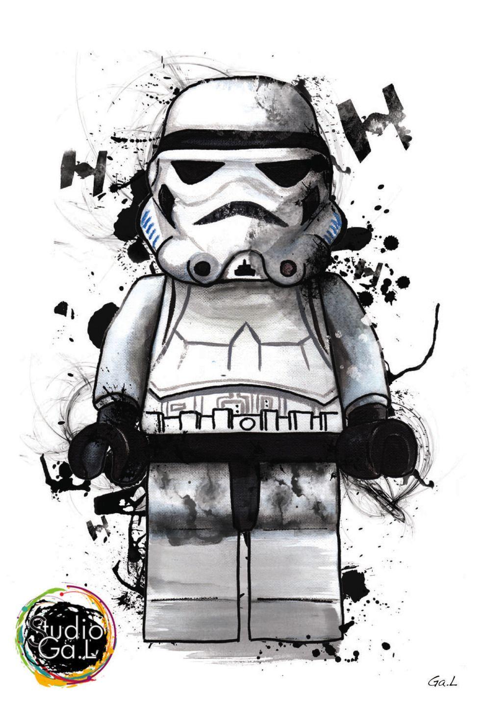 Stormtrooper Star Wars Figurine Art Design Illustrations De Star
