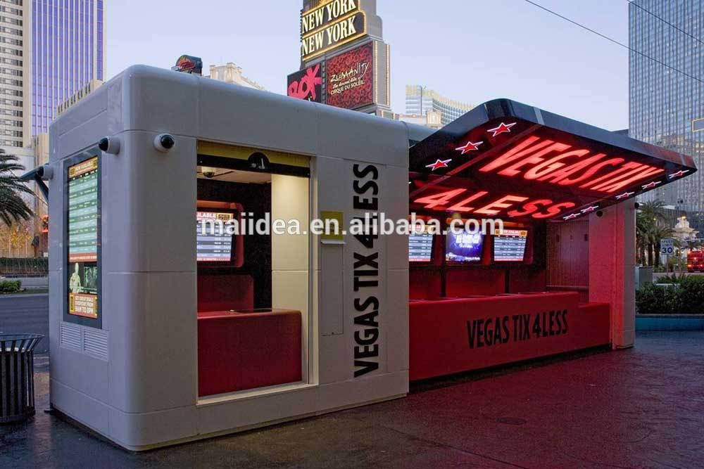 Free designed of eco friendly outdoor food kiosk fast food for Exterior kiosk design