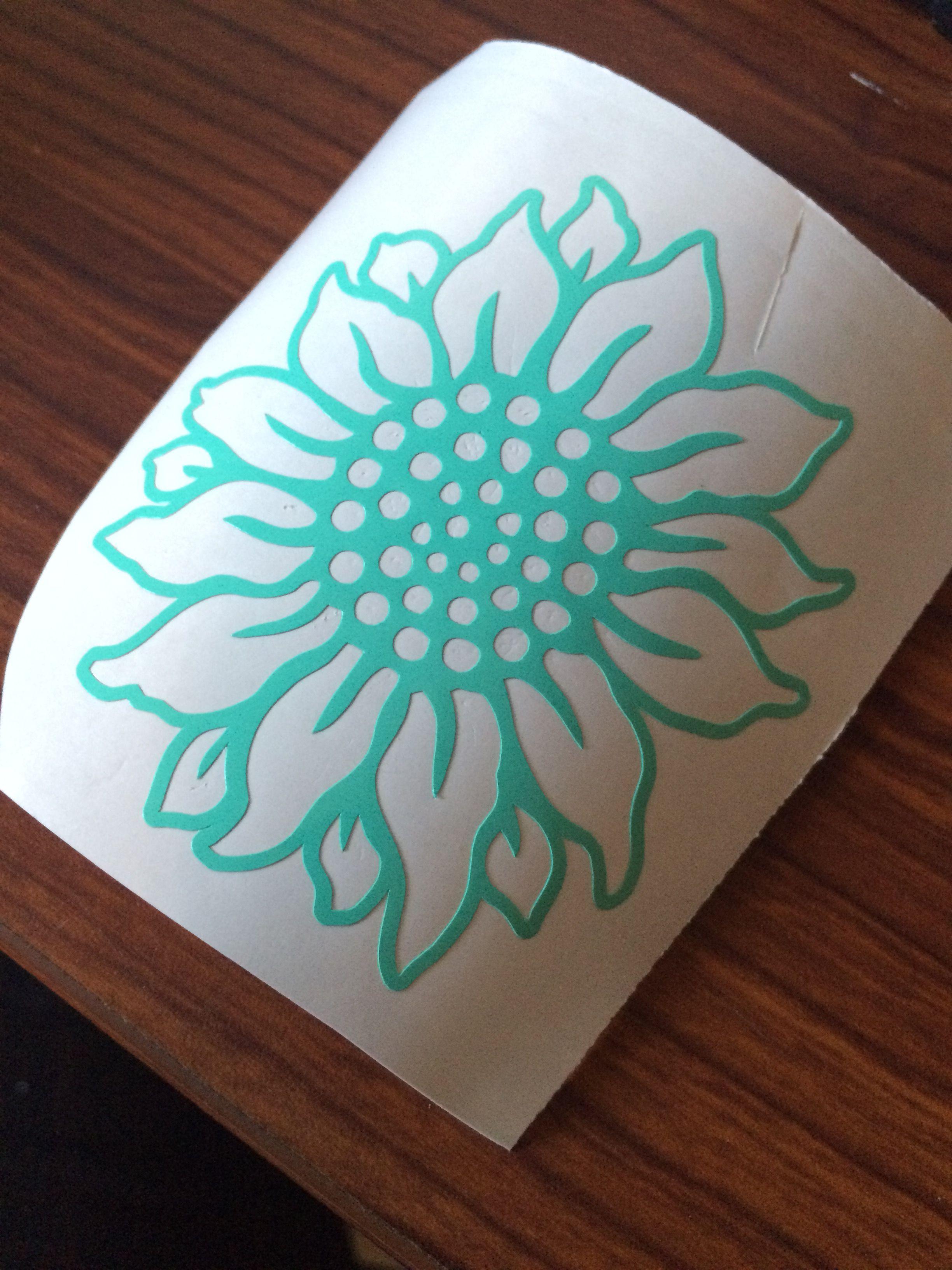 Vinyl decal. Sunflower _byAshleyBerrios | Diy vinyl, Cup ...
