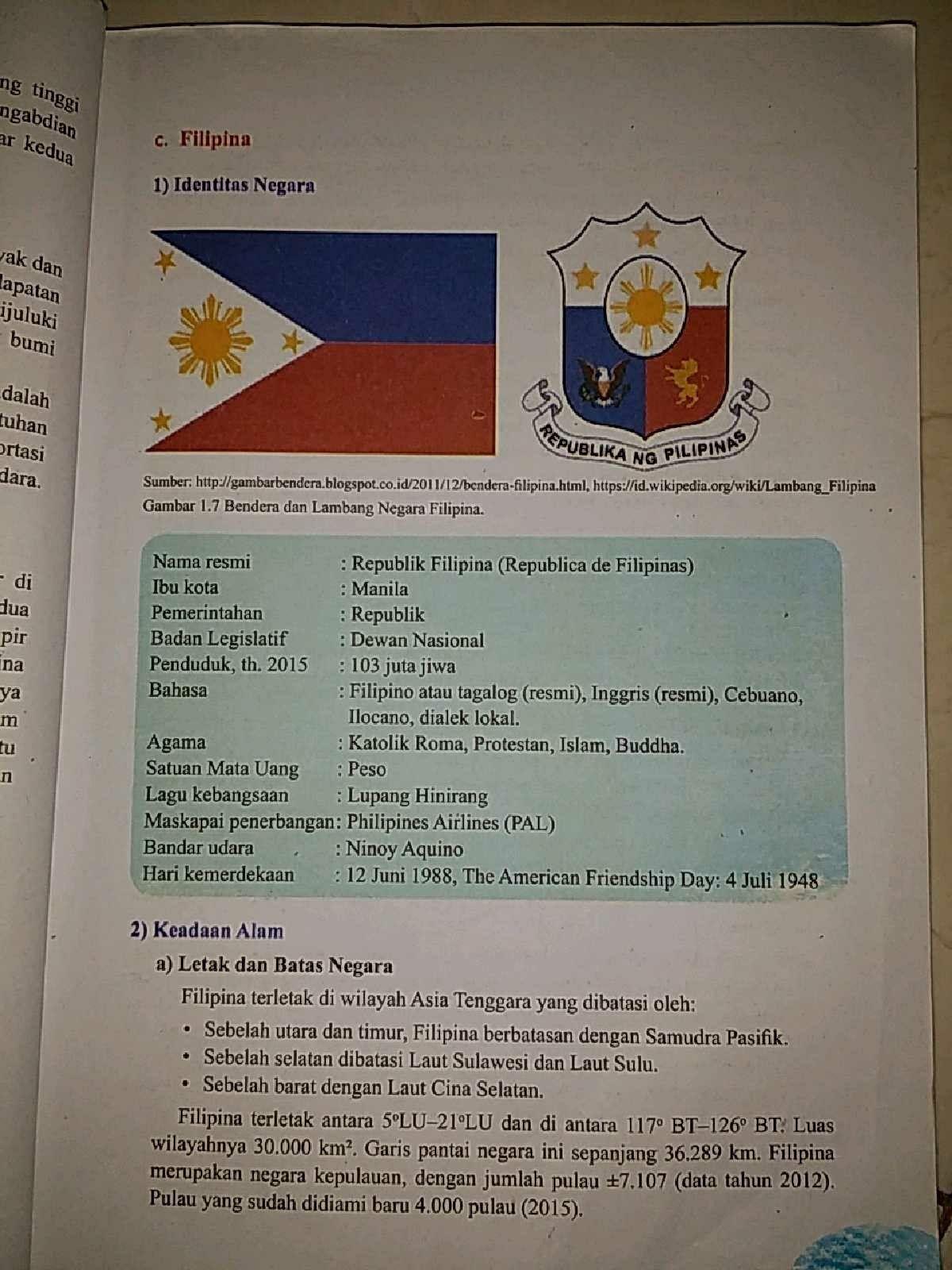 Lambang Bendera Negara Filipina