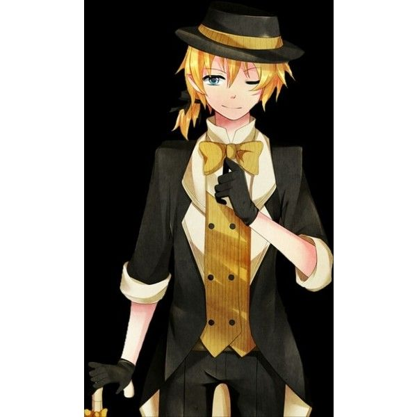 Kagamine Len Monochrome Dream Eater ❤ liked on Polyvore featuring anime, characters and vocaloid