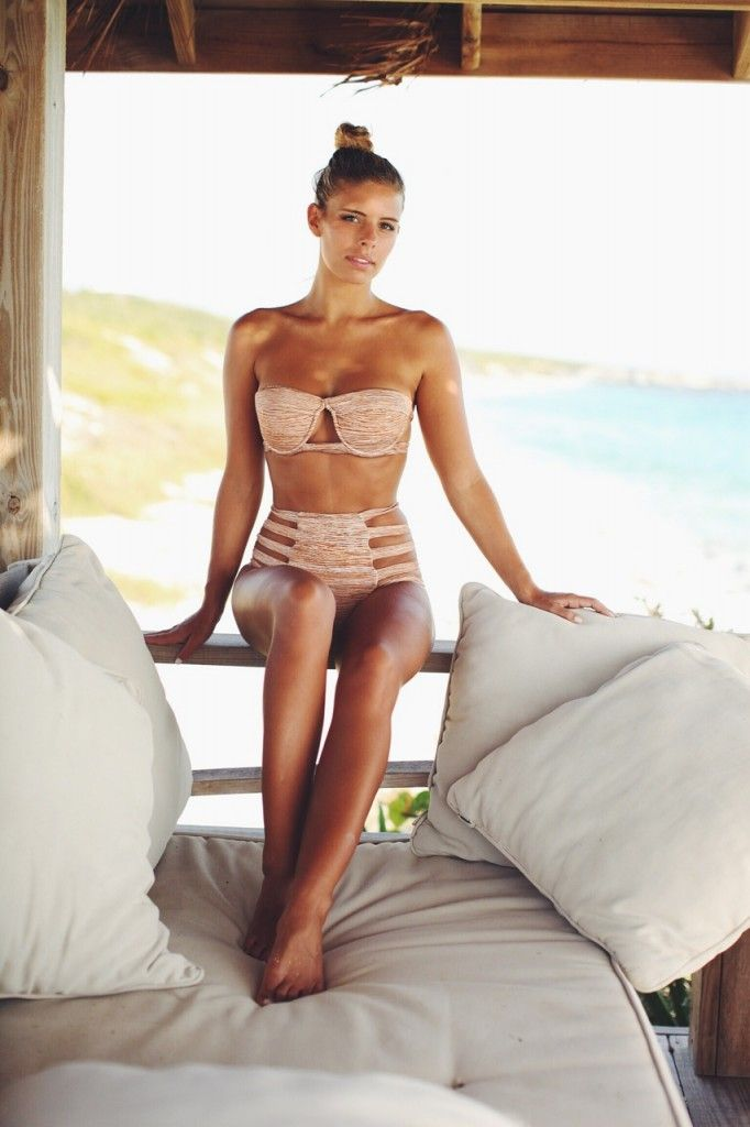 Model: Natasha Oakley. High waisted bikini by S.tory Standards