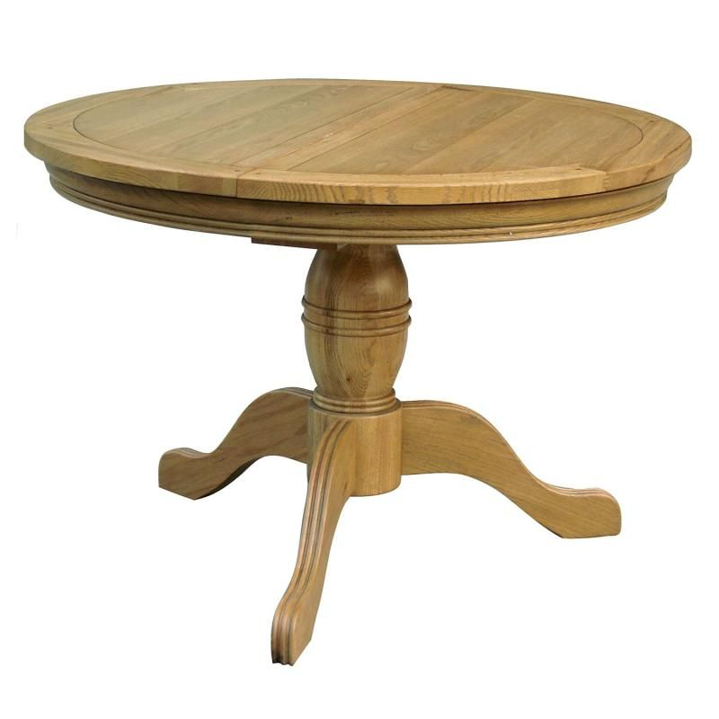 Gentil Livingstone Oak Round Pedestal Extending Dining Kitchen Table Home Oak .