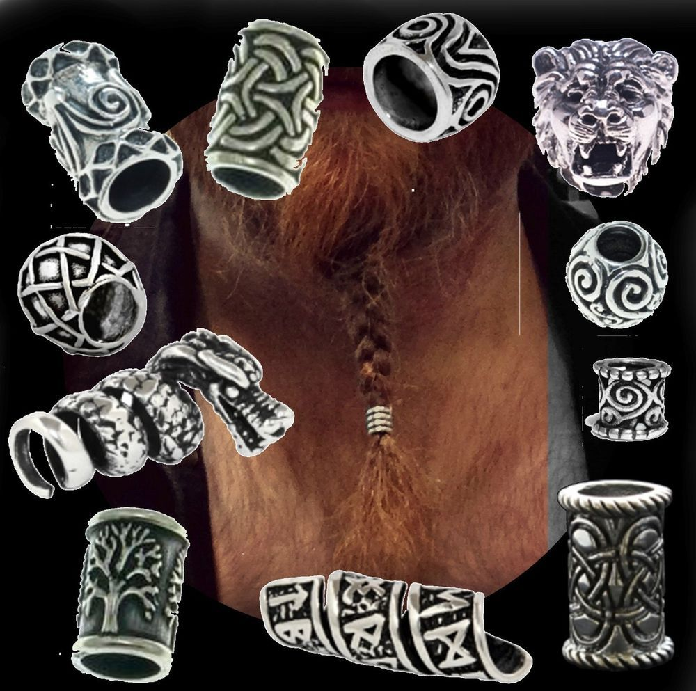 Wholesale  High Quality  Viking Knot  Hair Beard Beads for Hair Braids