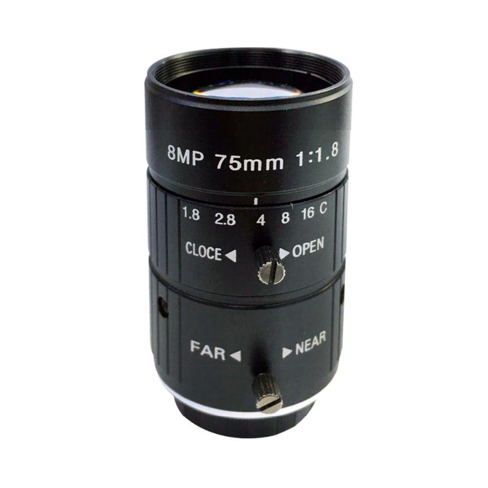 Hd 8mp 75mm Cctv Camera C Mount Lens Manual Iris Manual Focus F1 8 Aperture 1 Image Format Industrial Security Camera Cctv Camera Camera Lens Security Camera
