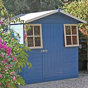 wickes casita decorative garden shed with roof overhang 7x7