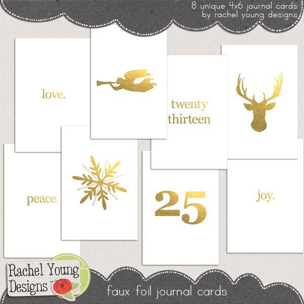 Faux Foil Journal Cards
