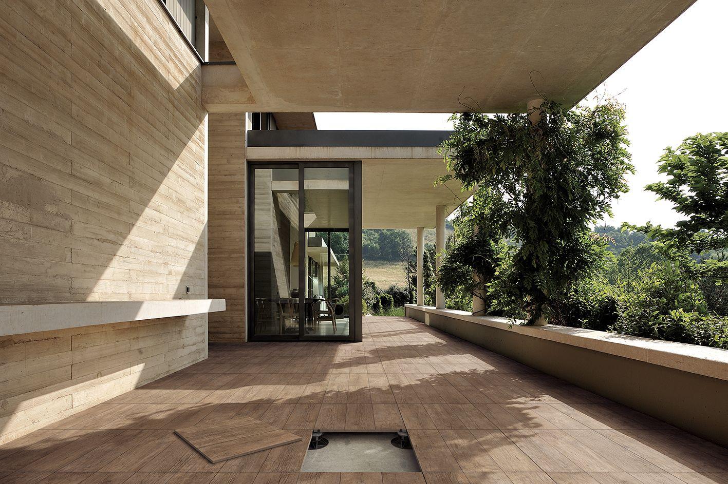 Gres effetto legno/cortex-pavimento-gres-esterno-nocciola/armonie artecasa  Materials  Pinterest