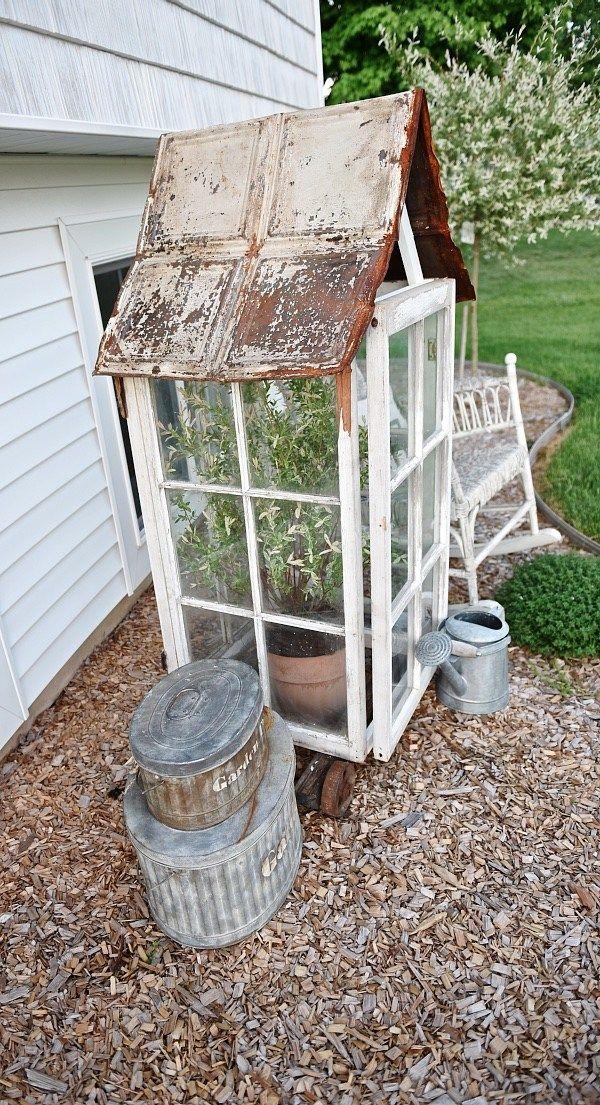 DIY Window Greenhouse | Rustic greenhouses, Diy garden ...