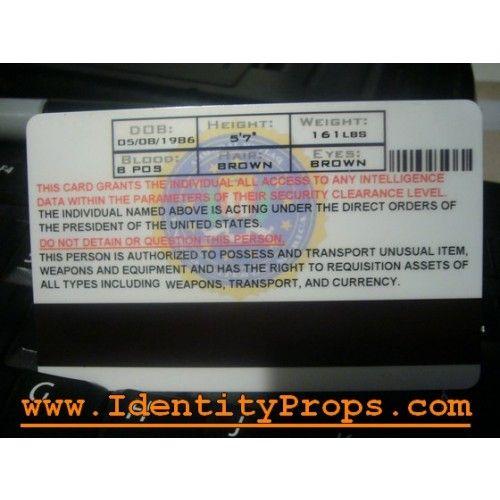 cia identification card templates