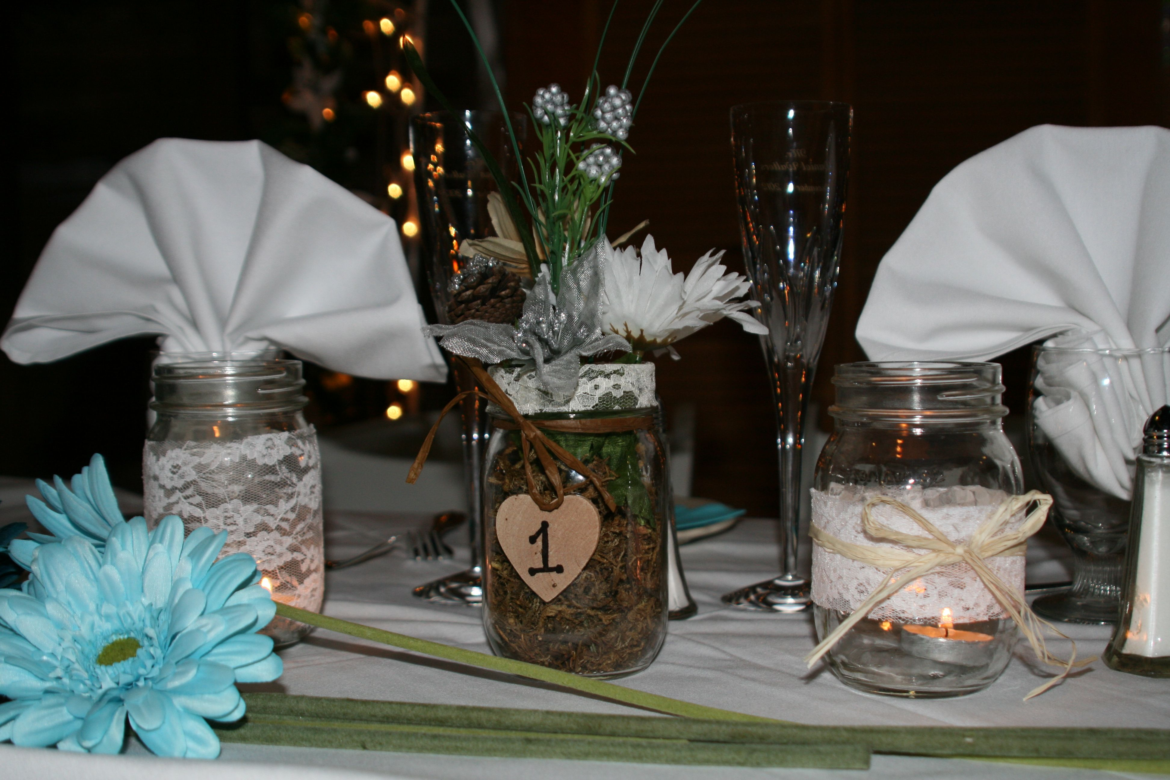 Rustic country wedding table centerpiece wedding elements