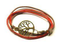 Leder Armband Baum bronze Lebensbaum rot braun