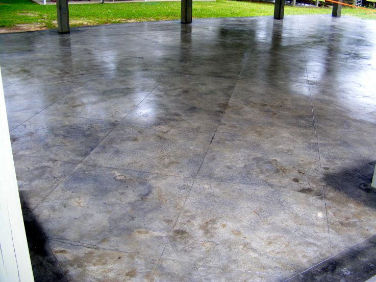 Decorative Patio Tiles Best Decorative Concrete Tile Patio  Mobile Alabama  Decorative Inspiration