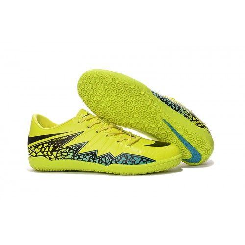 botas de fútbol nike hypervenom phelon ii ic para hombre de color amarillo negro