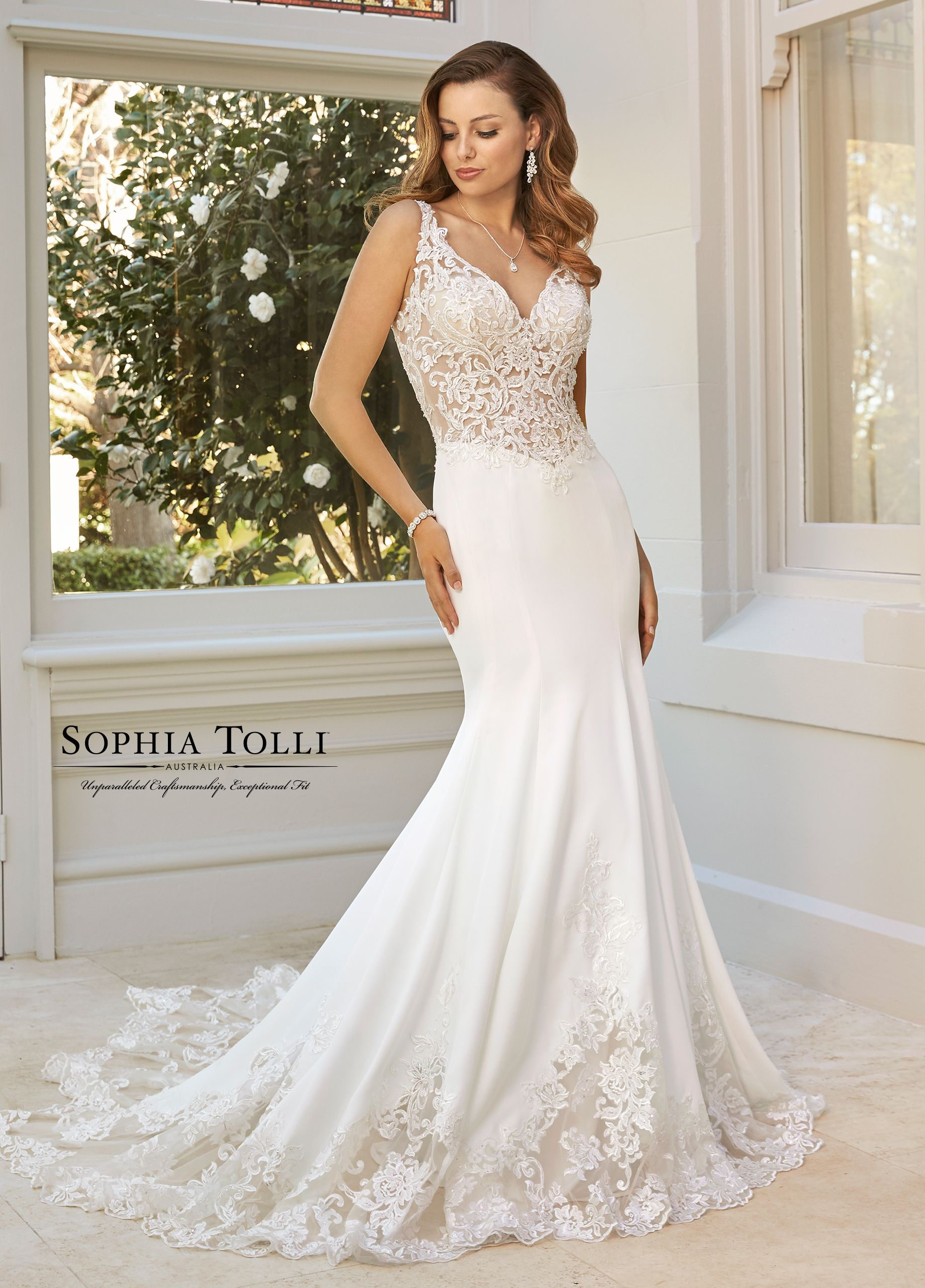 38a095cc2c6 Sophia Tolli Y11959A Abigail - Luxurious and alluring in stretch satin crepe
