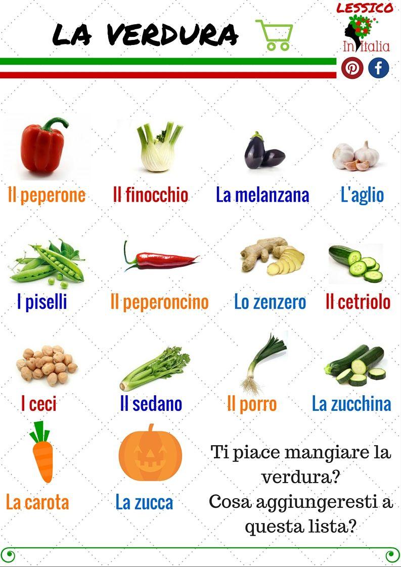 La Verdura Aprender Italiano Italiano Para Principiantes Como Aprender Italiano
