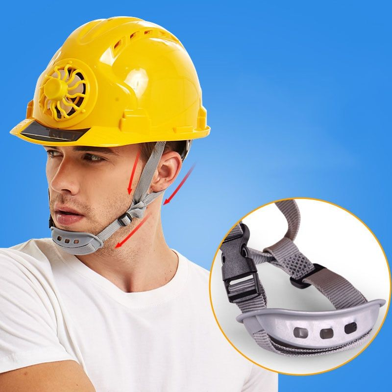 Solar Powered Cooling Fan Safety Helmet Construction Site Cap Workers Engineers Ebay In 2021 Solar Powered Fan Solar Power Hard Hat
