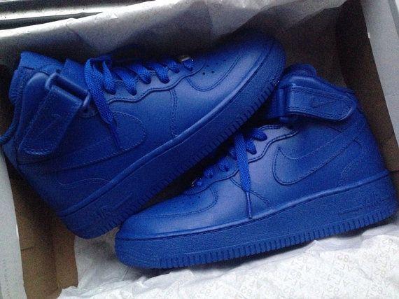 Nike Air Force 1 Custom Red or Blue Sneaker Customization