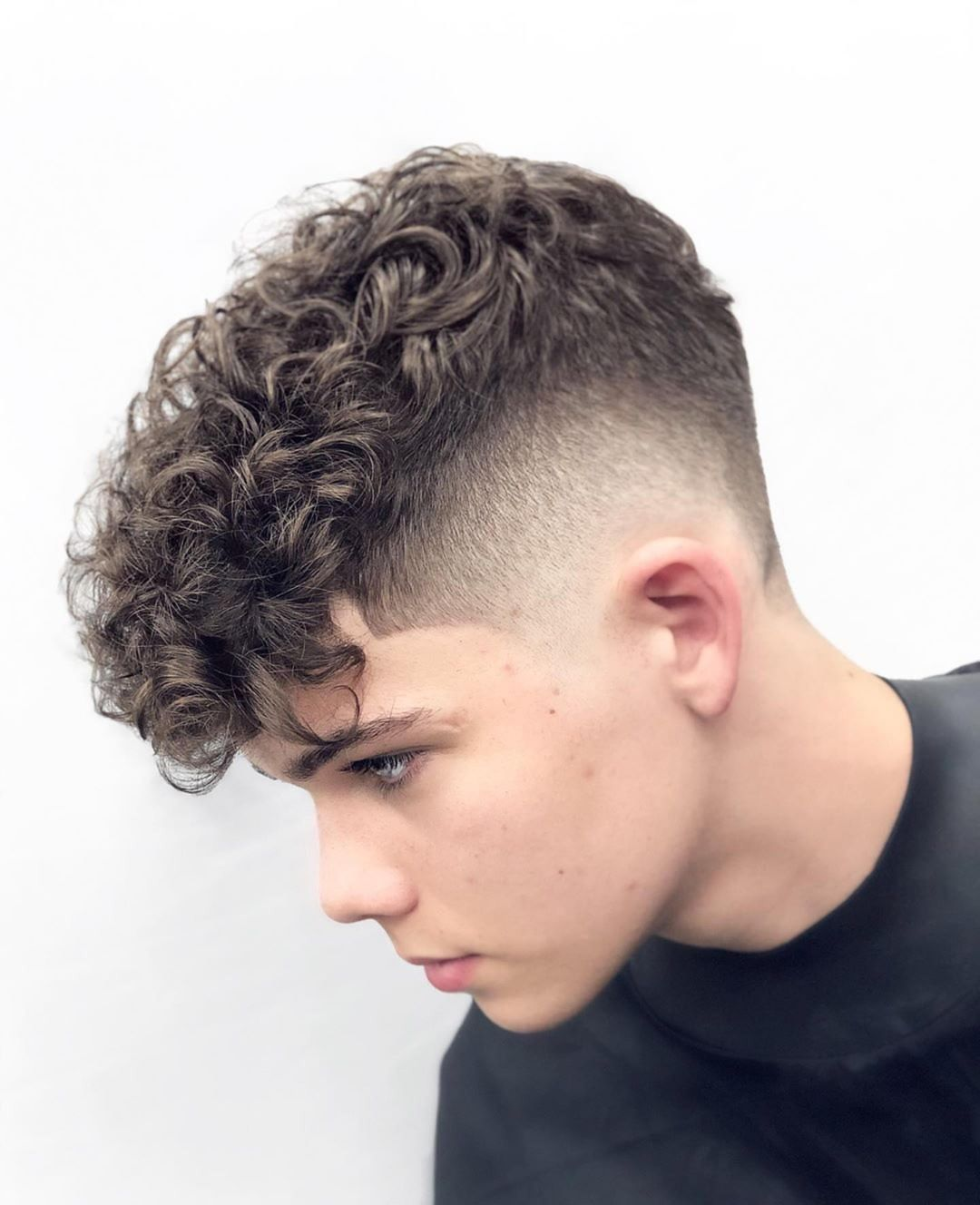 Hairbrained Me On Instagram Showing Off These Perfect Curls With The Freshest Fade Snutko Cr Haircuts For Curly Hair Men Haircut Curly Hair Curly Hair Men