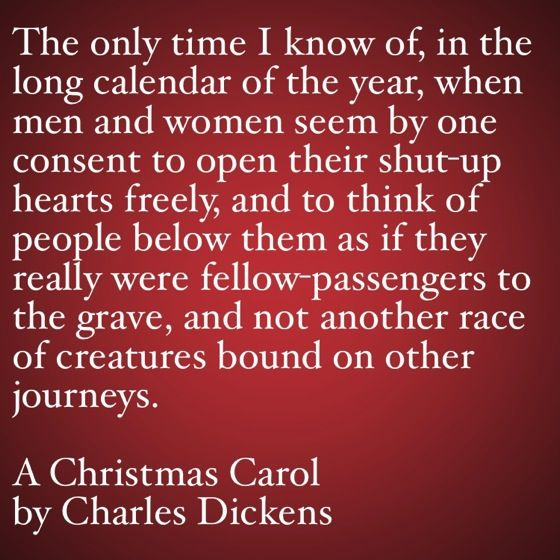 My Favorite Quotes from A Christmas Carol #6 - …open their shut-up ...