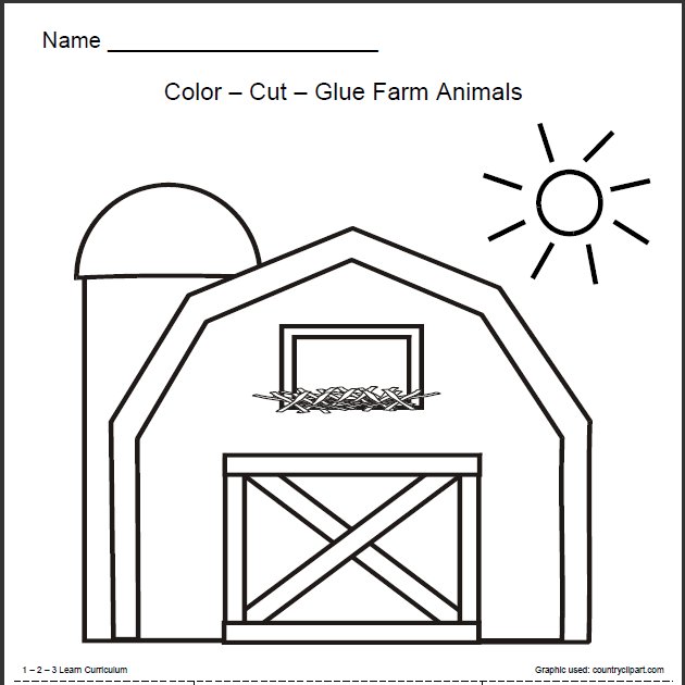 I have added a Farm Animals worksheet to the free downloads at 1 - 2 ...